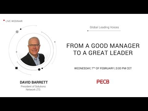 From a Good Manager to a Great Leader