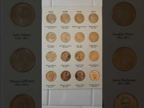 Complete Presidential Dollar Coin Set All 45 Presidents