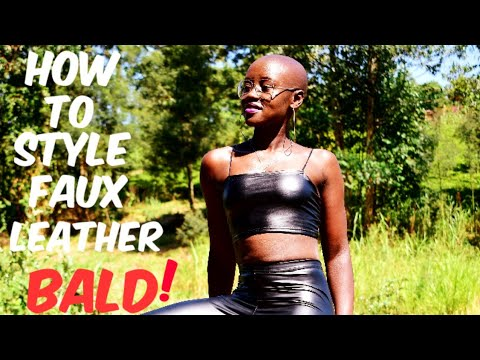 BALD SEXY MODELLING IN SPANDEX & LEATHER!