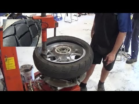 Time For A New Tyre - Motorcycle Tyre Fitting Process