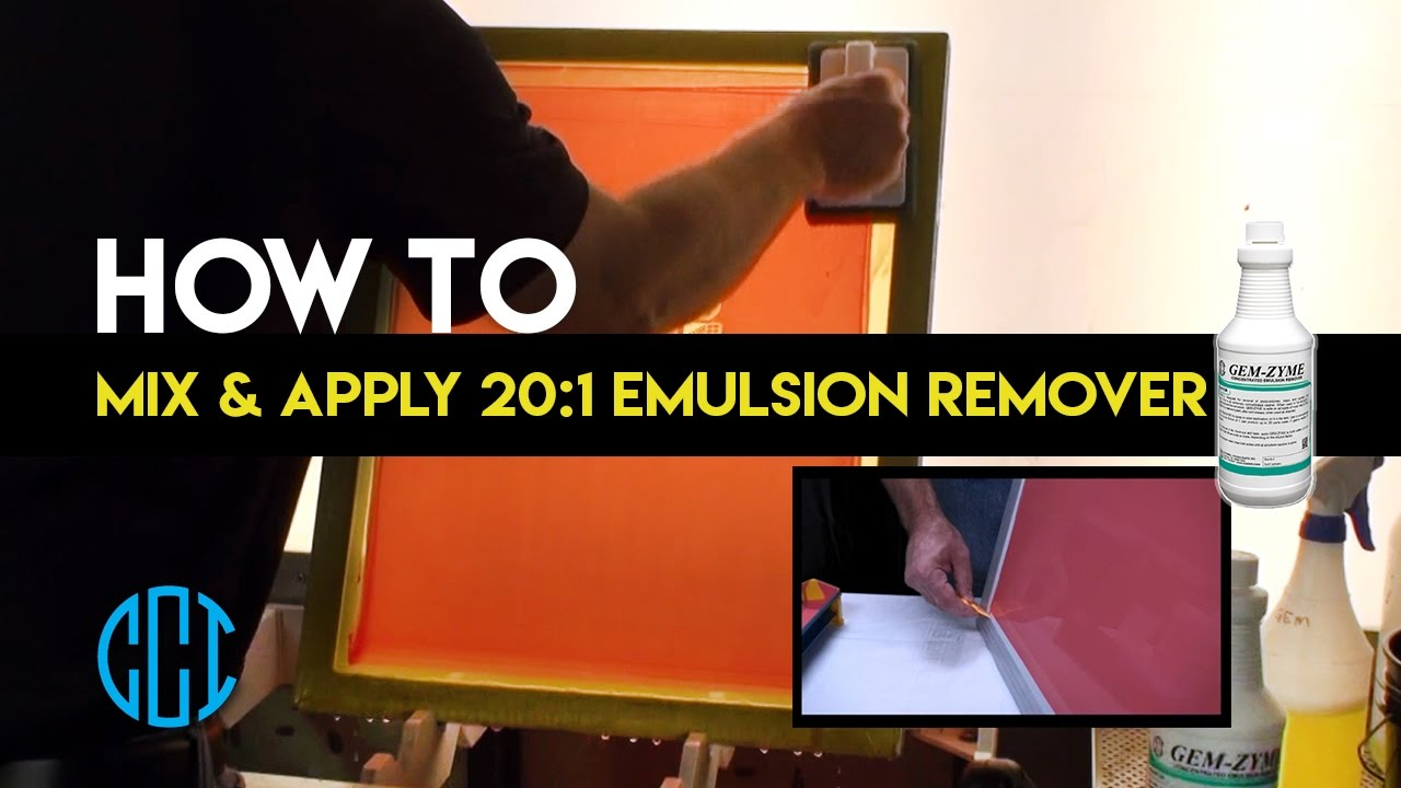 Screen Printing - How to use CCI's GEM-ZYME 20:1 Emulsion Remover