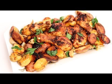 One Pan Roasted Chicken & Potatoes Recipe - Laura Vitale - Laura in the Kitchen Episode 761