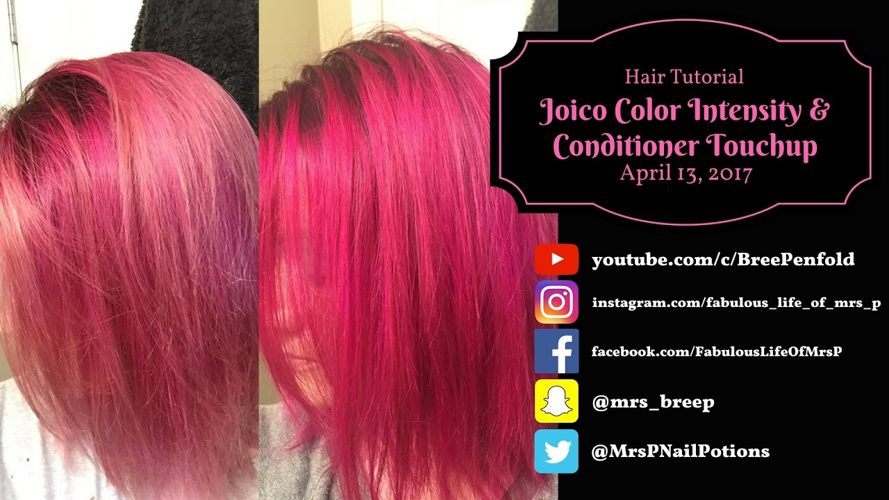 Joico Color Intensity Conditioner Touchup Hair Tutorial Youtube
