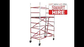 How to erect a mobile scaffold