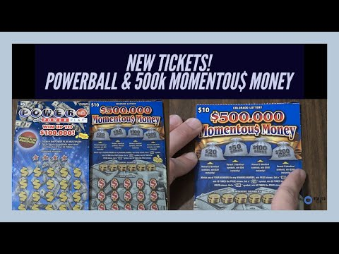 *NEW TICKETS* Powerball W/ Power Play And 500,000 Momentous Money | Colorado Lottery Scratch Tickets