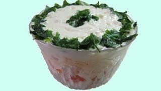 Салат Мимоза  Вкусный рецепт Салата Мимоза Новогодний рецепт Салат Мимоза 2015