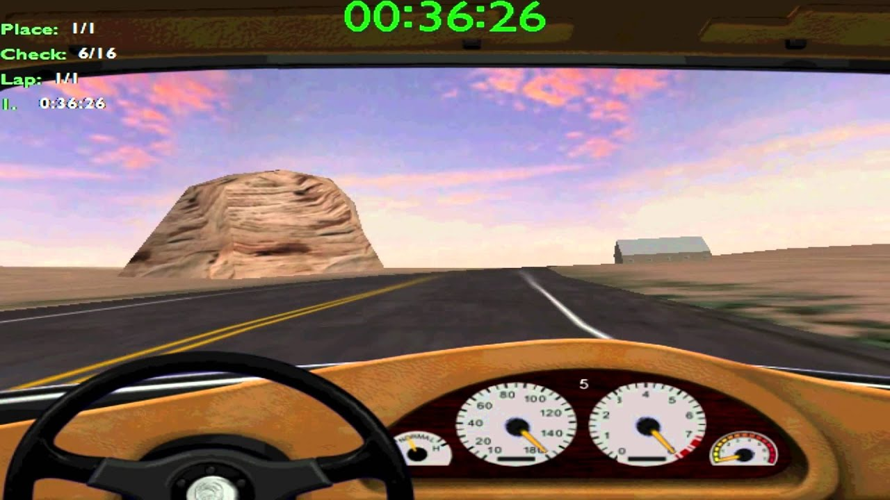 Midtown Madness 2 Panoz Roadster At Rocky Desert Youtube