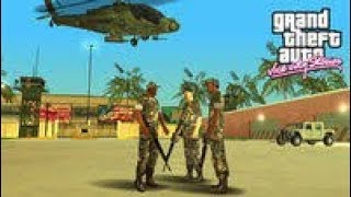 GTA Vice City Army Base & Grab Hunter Helicopter