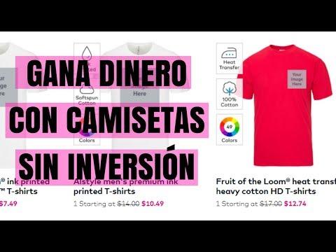 ✅ GANA DINERO VENDIENDO CAMISETAS ONLINE SIN INVERSIÓN