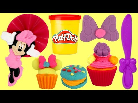Play-doh Creations: MINNIE MOUSE TREATS Make Your Own Cupcake, Cookie with Friends thumbnail