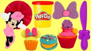 Play-doh Creations: MINNIE MOUSE TREATS Make Your Own Cupcake, Cookie with Friends