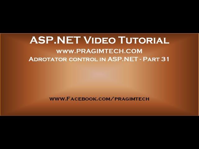 Adrotator control in asp net   Part 31