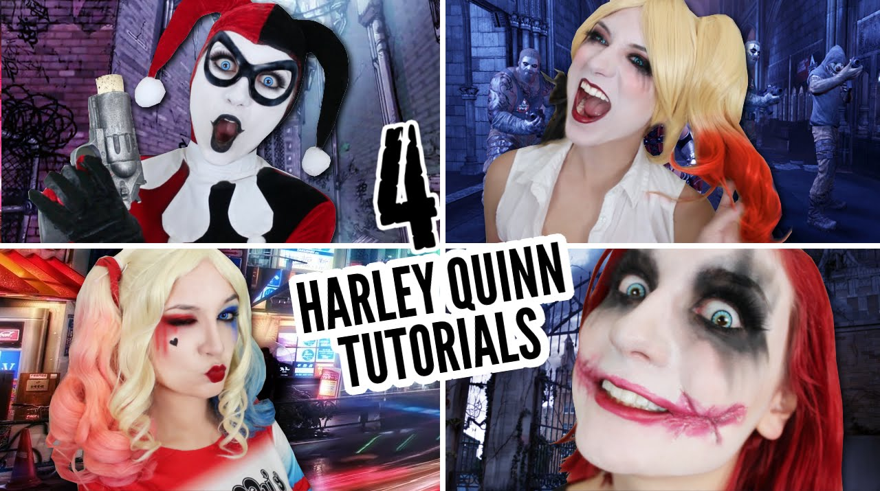 4d15541e0bea 4 HARLEY QUINN TUTORIALS IN 6 MINUTES - YouTube