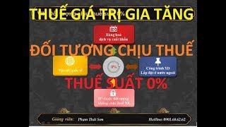 [Thuế GTGT]  Đối tượng chịu thuế suất 0% - Phần 02