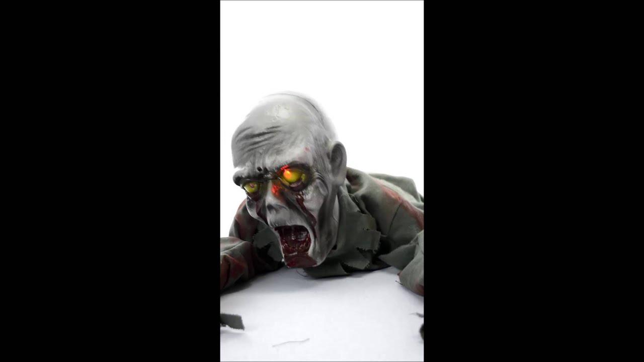 Enfeites De Zumbi ~ Decoraç u00e3o Aterrorizante de Halloween Zumbi Rastejante YouTube