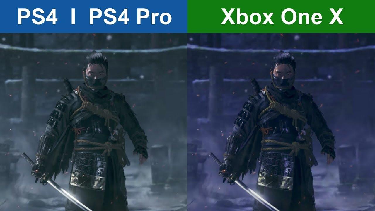 GHOST OF TSUSHIMA PS4 Vs XBOX ONE X Graphics Comparison YouTube