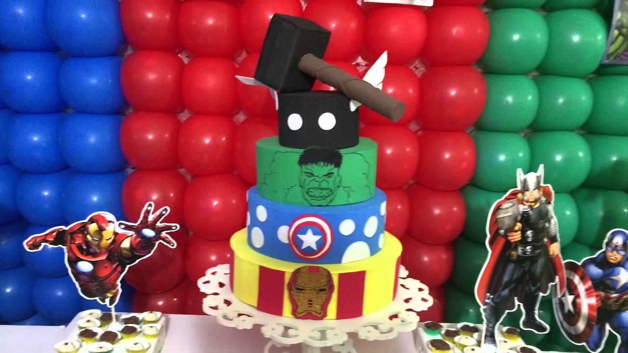 Festa Tema os Vingadores YouTube -> Decoração De Festa Os Vingadores