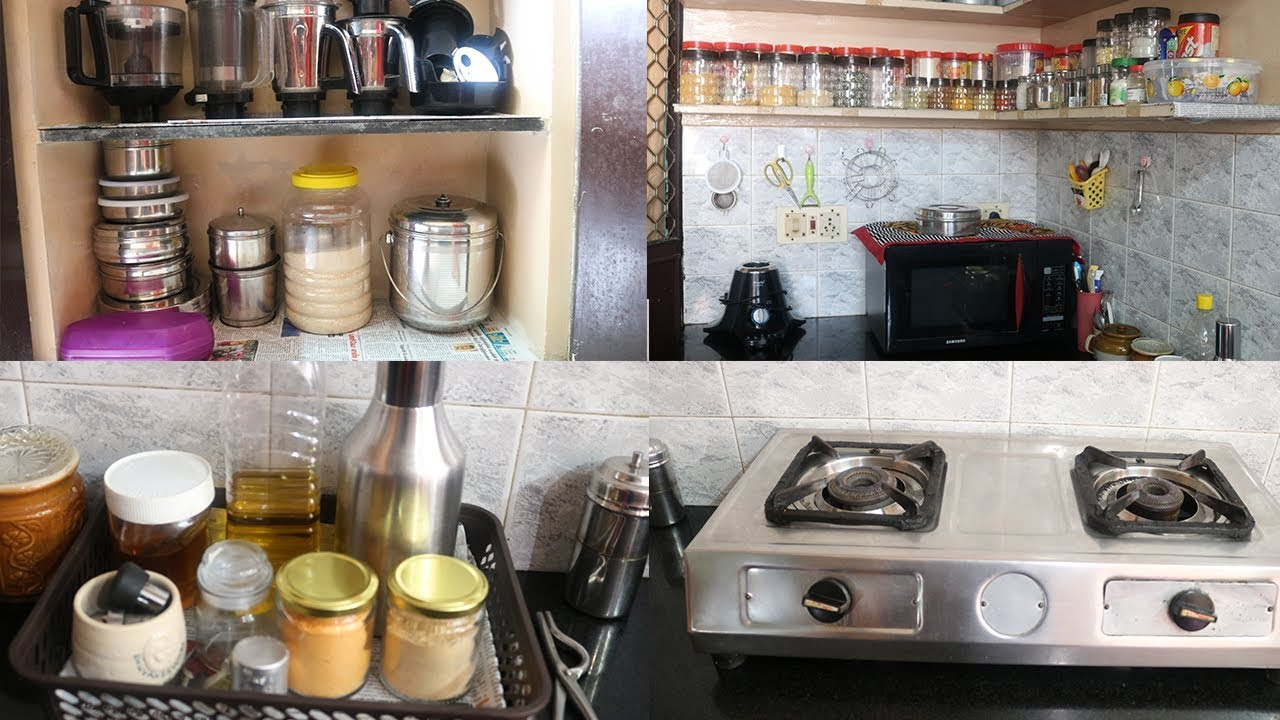 Kitchen Tour How I Organise My Small Indian Kitchen Kitchen Organising In Tamil