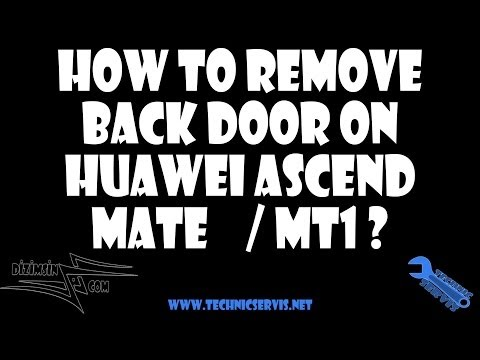 How to remove backcover / Battery Door on Huawei Ascend Mate ?