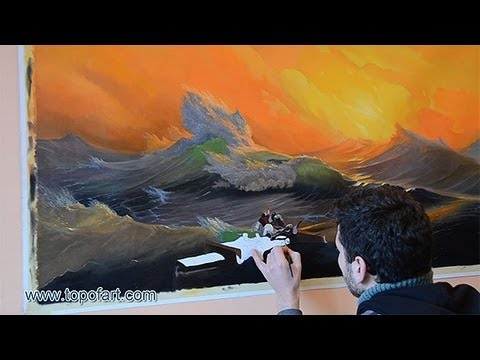 Art Reproduction (Aivazovsky - The Ninth Wave) Hand-Painted Step by Step
