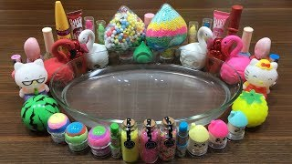 MIXING RANDOM THINGS INTO CLEAR SLIME!!! SATISFYING SLIME VIDEO