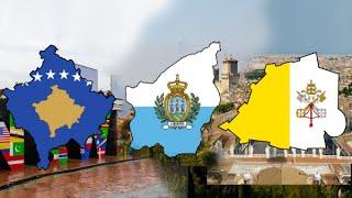 Flag Map Speedart - The Small Nations: Part 2