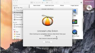 Uninstall Little Snitch 3 on Mac