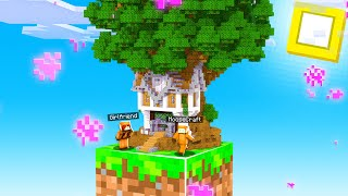 Minecraft Skyblock With My GIRLFRIEND, But We Built a TREE HOUSE On ONE BLOCK! #6