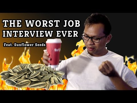 THE WORST INTERVIEW EVER feat. Sunflower Seeds
