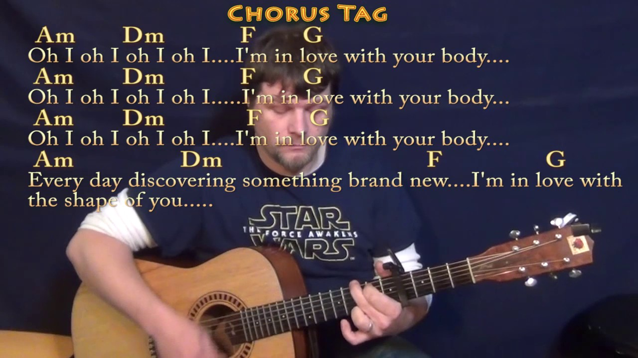 Shape Of You Ed Sheeran Guitar Lesson Chord Chart With Chords