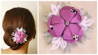 DIY ribbon flower – Kanzashi flower tutorial