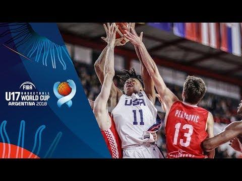 United States v Croatia - Highlights - Quarter-Finals - FIBA U17 Basketball World Cup 2018