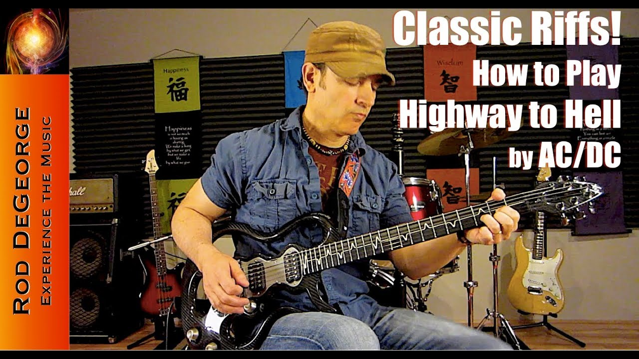 classic riffs guitar lesson tutorial how to play highway to hell by ac dc youtube. Black Bedroom Furniture Sets. Home Design Ideas