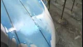 How to Glass A Surfboard : Glassing Surfboard Bottom