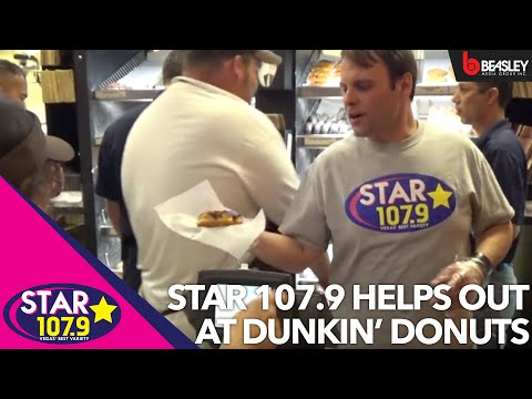 Star 107.9 helps out at Dunkin' Donuts