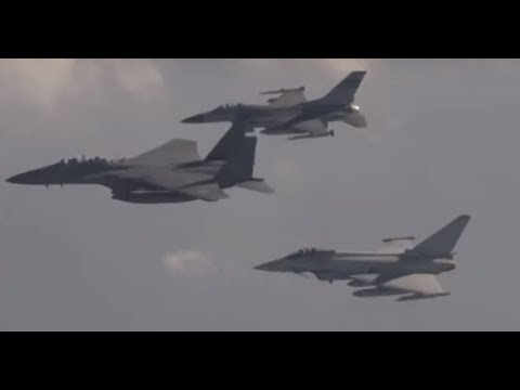 UK, US, ROK Air Forces on Exercise Invincible Shield