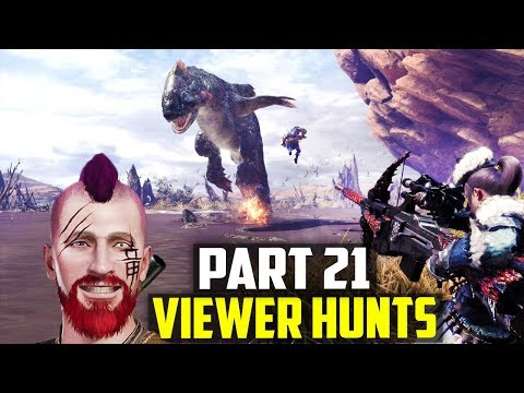 🚩 Monster Hunter World Part 21 - Viewer Hunts! ARMOR and WEAPON Augmenting! PS4 Pro