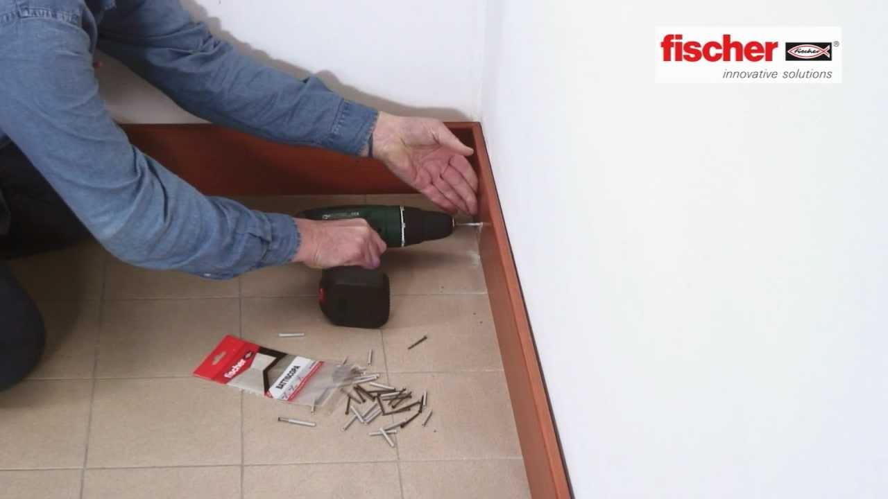 fischer Ready to Fix  Kit di fissaggio per battiscopa