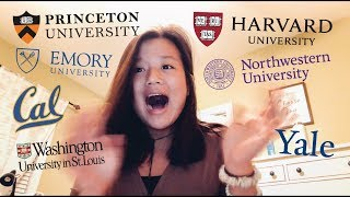 college decision reactions 2019 | accepted to harvard, princeton, yale, + more