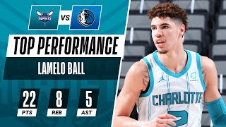 LaMelo Ball Tallies A Team-High 22 PTS, 8 REB, 5 AST In The Hornets W 🔥