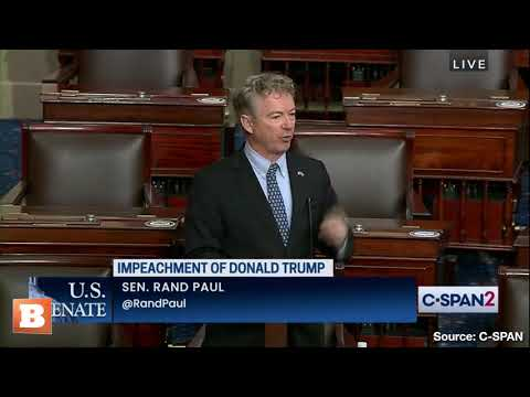 "Rand Paul Highlights Democrat ""Incitement"" in Speech Against Impeachment Trial"