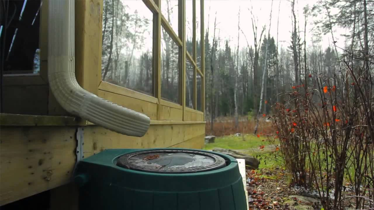 Collect Rainwater For Your Lawn Or Garden