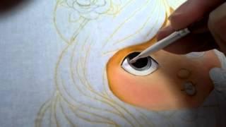 Pintura do rosto da boneca Jolie – Parte 2 – Olhos