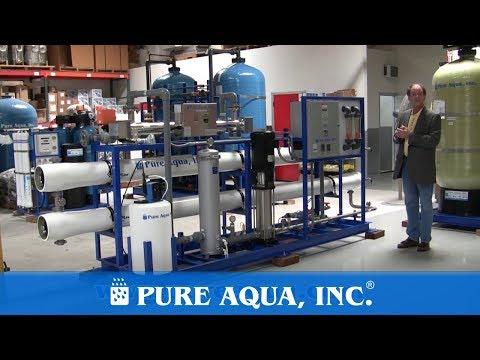 Industrial Brackish RO Machine Equatorial Guinea 57,000 GPD | www.PureAqua.com