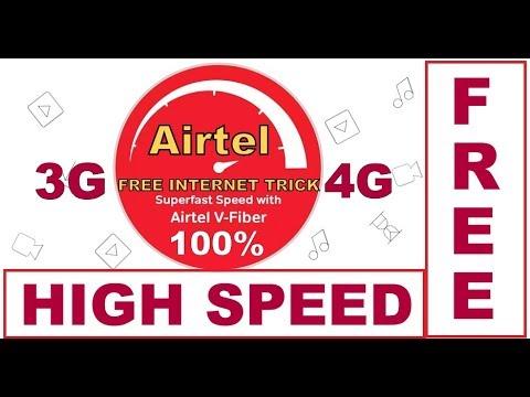 Airtel free 900 Kb/sec high speed internet Trick