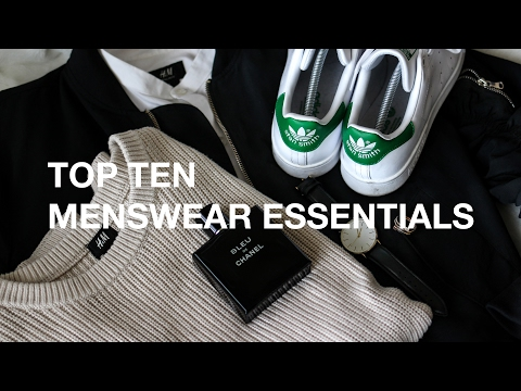 Top Ten Menswear Essentials Every Guy Needs