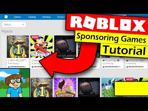 How To Sponsor Your Game On Roblox And Make Robux - Sponsored Games Tutorial