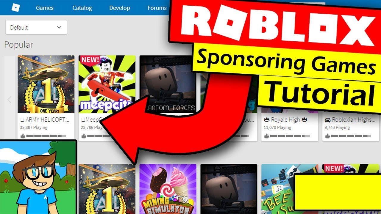 How To Sponsor Your Game On Roblox And Make Robux Sponsored