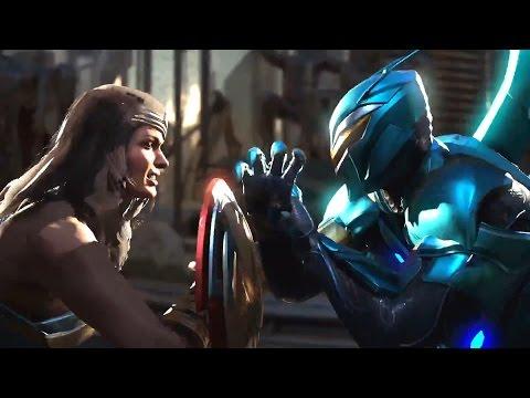 Чудо женщина и Синий Жук в Injustice 2
