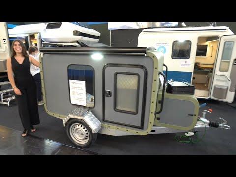 Minimalismus: Kleinste Wohnwagen der Welt. 400kg, GFK, Küche, Riesenbett, Sonnendach, autark, Platz!